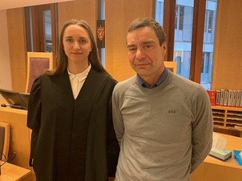 BLIR ANKET: Forsvarer Camilla Kavli sammen med Ivar Grøneng etter rettsaken i Oslo Tingrett hvor han vant frem Nå har politiet anket saken.