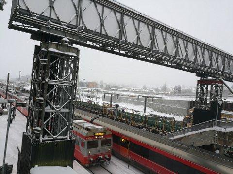 ARBEIDER: Det blir flere arbeider på Østfoldbanen fremover.