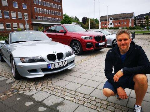 ENTUSIAST: Ski-mannen Nils Christopher Hofgaard er Z-entusiast på sin hals, og startet en Facebook-gruppe med håp om å treffe noen likesinnende.  Lørdag arrangerer han en egen festival for BMW-modellen Z på Øvre torg i Ski.
