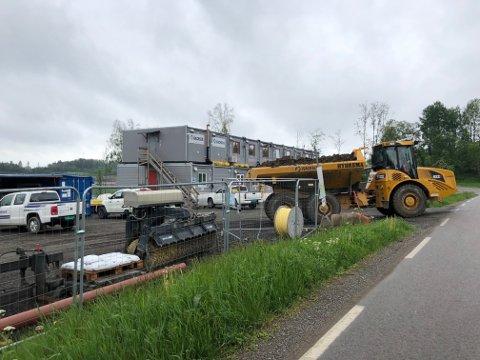 Gravemaskinene sto parkert i Oppegårdveien 70.