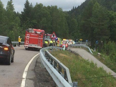 HARDT SKADET: Begge førerne ble skadet i sammenstøtet på Enebakkveien mandag 18. juni i fjor. Nå er den ene dømt til fengsel i 24 dager for å ha skadet den andre.