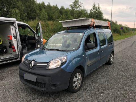 HER RØK FØRERKORTET: Statens vegvesen satte lite pris på denne overlastingen.