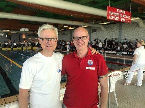 HASTER: Styreleder Erik Underland og trener Andreas Lidholm mener situasjonen for svømmeanleggene i Nordre Follo er alarmerende.