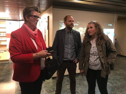 NYTT: Hanne Opdan, Oddbjørn Lager Nesje, Tuva Moflag og resten av Ap kan velge mellom intensjonsavtale med Høyre og samarbeidsavtale med V, MDG, Sp, Sv og KrF.