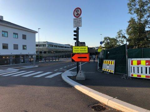 UT MÅNEDEN: Arbeidene i Jernbaneveien vil pågå frem til sommeren 2020.