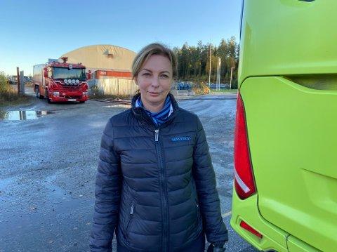 OPPDAGET BRANN: Beate Blokesz varslet om brannen, og valgte å flytte flere busser før brannmannskapene kom. FOTO: Ole Jonny Johansen