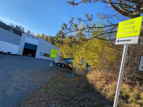 TESTING: Nylig flyttet testsenteret til Ski. Men det ble ikke meldt om noen nye positive prøver derfra onsdag.