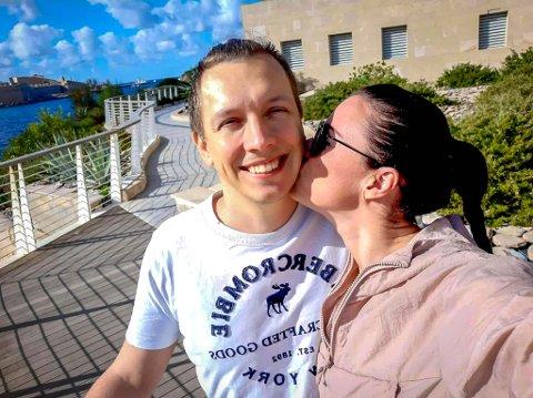 Da Eirik Kristiansen (36) måtte hjem til Norge i mars, ble samboeren Kristina (41) igjen på Malta. Dagen etter stengte Norge og verden ned.