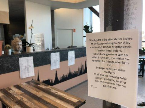 KONKURS: Det ble åpnet konkurs hos Thai City på Ski storsenter 14. juni i år. Tre dager senere åpnet restauranten igjen med nye eiere.