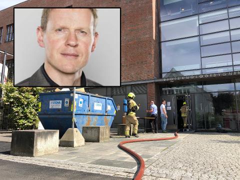 OVERSIKT: NMBU jobber med å få full oversikt over skadene etter brannen onsdag, sier direktør Lars Atle Holm.