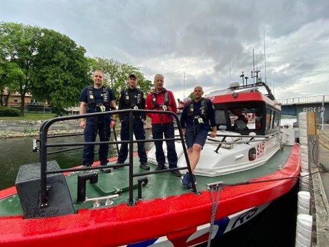 FORBEREDT: Mannskapet på redningsskøyta Elias i Moss er godt forberedt på at denne sommeren blir travel.