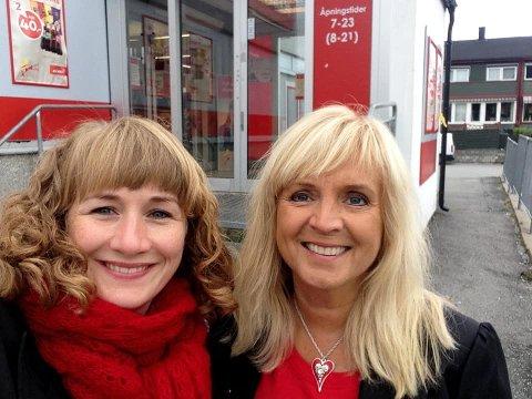 De tidligere ordførerne i Ski, Gunvor Eldegard og Tuva Moflag, om Støres uttalelser i et NRK-intverju. Her er Eldegard og Moflag utenfor butikken på Siggerud i valgkampen i 2015
