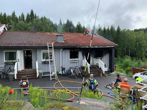 Leiligheten ble totalskadet i brannen.