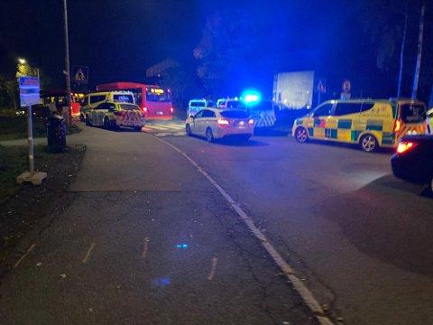 STOR UTRYKNING: En person skal være skutt på Mortensrud torsdag kveld.