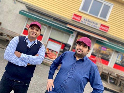 NYE DRIVERE: Mandag denne uka tok Tahir Safdar (t.v.) og Arshad Raza over som drivere av klassikeren Kråkstad Mat og Grill.