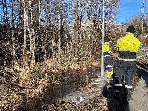 BRANN: Brannvesenet rykket ut til gressbrann tirsdag ettermiddag.