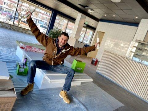 BLIR EN DEL AV GÅGATA: Pablo Lopez og Don Pablos Pizza blir en del av gågata når de flytter inn i lokalet etter Fiskehuset. Lopez håper å åpne dørene i løpet av mai.
