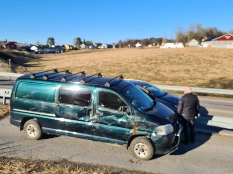HØGDA:  En mann i 60-årene kjørte av veien søndag.