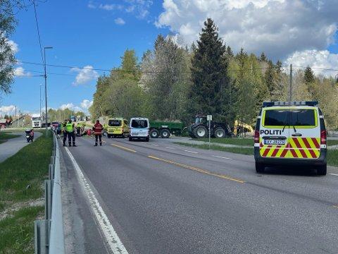 ULYKKE: Fredag ettermiddag blir en motorsykkelsyklist skadet i Vestby.