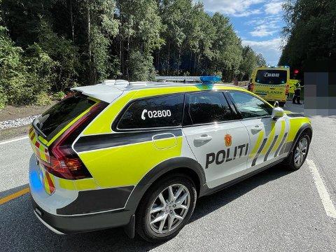 Nødetatene måtte rykke ut til en trafikkulykke i Frogn.
