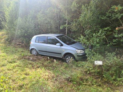 SKADET: En person skal være skadet etter en utforkjøring i Hobøl tirsdag morgen.