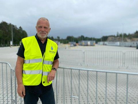 Leder av Svinesund internasjonale testsenter, Jostein Stø, sier at det er mange barn og unge som tester positivt på koronatesten på grensa. Arkivfoto.