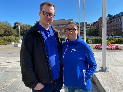 SELVFØLGE: Slik situasjonen er nå, mener Jean Richard og Narine Løvås at det er en selvfølge å forhåndsstemme.
