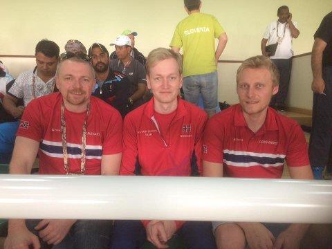 Hans Kristian Wear, Odd Arne Brekne og Kim-André Aannestad Lund vant VM-gull for lag i militært VM.