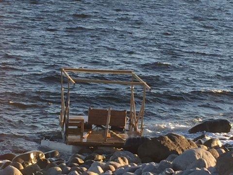 Her er flåten som ble funnet ved Mølen