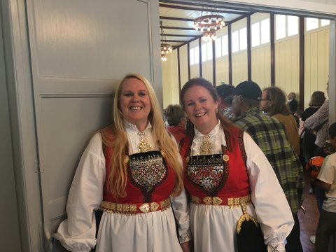 Kjersti Haugland og Christine Rahn har ledet restaureringsprosessen i Soldathjemmet. Lørdag var de to fornøyde eiere.