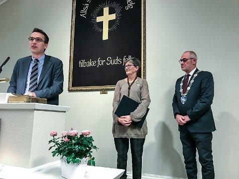TALER: -Du levde ut et eksempel på hva det betyr å bry seg om de svake, sa Hjalmar Bø til mangeårig misjonær Ingrid Næss.