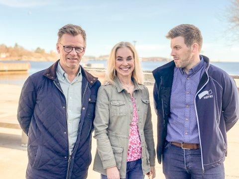 VIL HA NYTT VEDTAK: – Vedtaket vi sitter igjen med etter kommunestyrets møte 4. april, er med stor sannsynlighet ikke et uttrykk foroppfatningen til et flertall i kommunestyret, mener Morten Riis-Gjertsen (t.v.), Birgitte Gulla Løken og Lars Johan Røsholt.