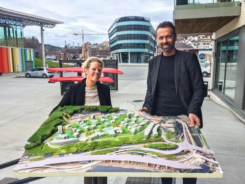 STOR PLAN: Både markedssjef Linda Brathagen og administrerende direktør Tore Møgster er svært fornøyd med Niels Torps plan for Bergeløkka.