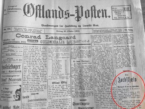 ARKIV: I oktober 1904 ble Larvik rammet av et jordskjelv. Det vil skje igjen, men ingen kan vite når.