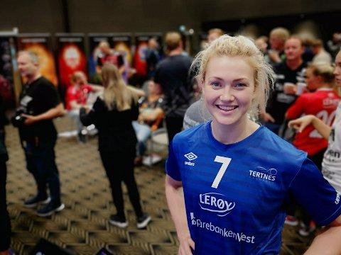 VOKSEN: Vilde Ingborg Johansen er lagkaptein for Tertnes denne sesongen. Stavern-jenta har blitt voksen og bruker lærdommen fra LHK-tida.