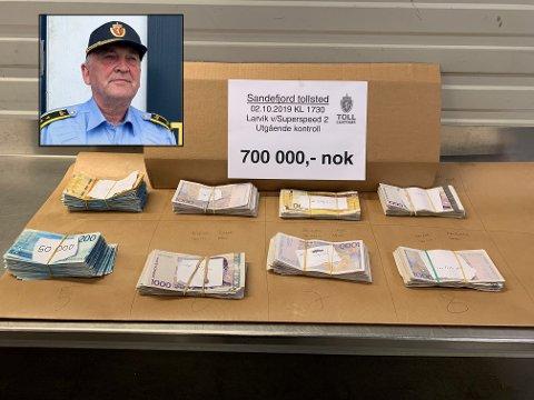 STOLT: Seksjonssjef Sven-Øystein Wagn Ferstad mener tollerne som fant 700.000 kroner i en bil på vei ut av Norge med SuperSpeed 2 gjorde en eksemplarisk tollerjobb.