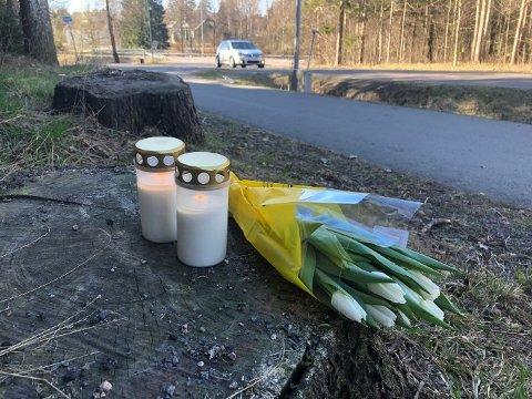 PÅKJØRT: Et ektepar ble i går påkjørt på en gangvei i Sandefjord. Kvinnen døde etter påkjørselen. Sjåføren stakk av.