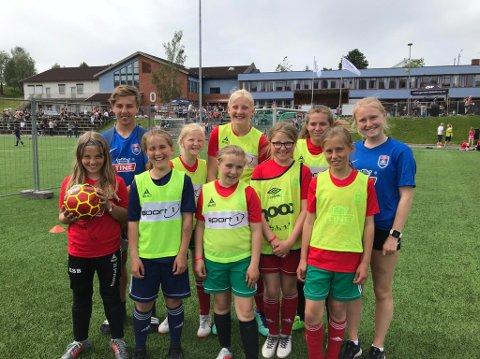 MANGE KLUBBER: Over 170 barn i alderen 6-12 år fra blant annet Nanset, Larvik Turn, Halsen, Stag, Kvelde, Hvittingfoss og Svarstad deltok på årets fotballskole.