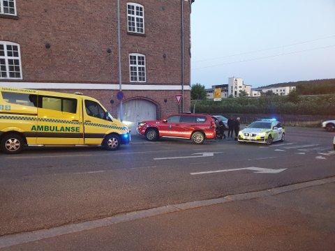 Ingen personer kom alvorlig til skade i ulykken tirsdag kveld.