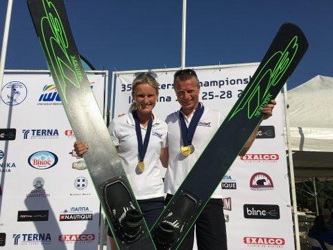 Lise Elgesem Vang og Ole Johan Bjørnøe tok flere medaljer under veteran-EM.