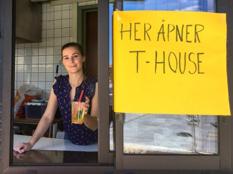 BUBBLE TEA: T-house åpner på Torget i Larvik, og der skal Lise Gusland selge bubble tea.