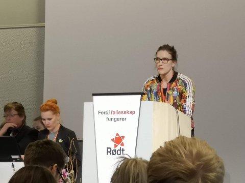 Maren Njøs Kurdøl fra Rødt ønsker et seriøst arbeidsliv i Vestfold-Telemark