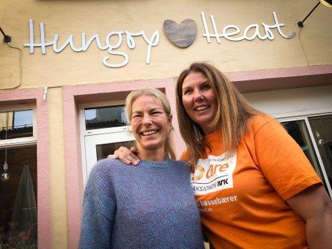 MAT MED MENING: Tone Brandsæter i Hungry Heart Café og Gry Larsen, generalsekratær i CARE.