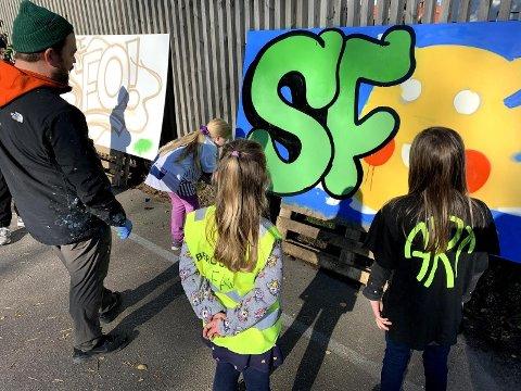 SATSER: Mye aktivitet i høstferien på SFO ved Berg Skole.