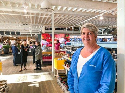 SPENT: Laila Bergstrøm er daglig leder i den nyåpnede butikken.