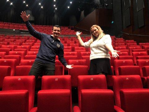 NYE PLANER: Rejahn Bosnjak og Åshild Vik Blikstad skal ikke bare lede Fabelaktig fredag i storsalen, men for hele Larviks befolkning.