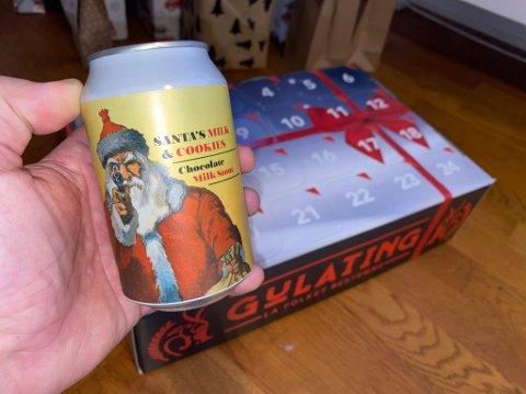 EKSPLOSIV:  Det er denne ølboksen i julekalenderen som kan eksplodere.