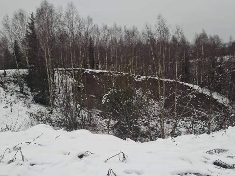 Store jordmasser har sklidd ut rett ved Gavelstad Gjestegård.