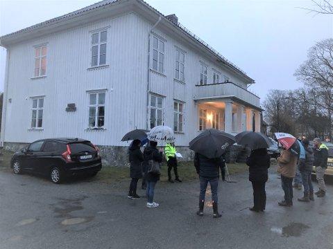 PÅ BEFARING: Tirsdag var planutvalget i Larvik kommune på befaring på «Øvre Nanset».