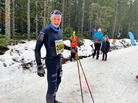 VÅT VINNER: - Motivasjonen var å komme først i mål, men etterhvert også bare å komme seg i mål, sier Mikael Gunnulfsen etter en kald og tung styrkeprøve.
